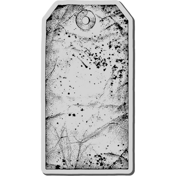 Stampendous Cling Rubber Stamp-Large Tag
