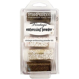 Stampendous Five-color Vintage-inspired Enamel Embossing Kit