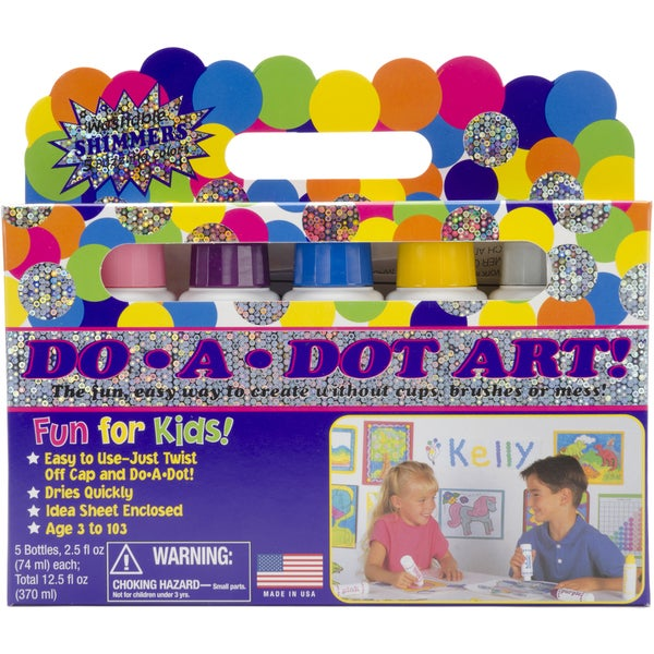 Do-A-Dot Art Set 6/Pkg-Shimmer