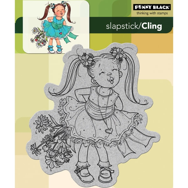 Penny Black Cling Rubber Stamp -Kisses