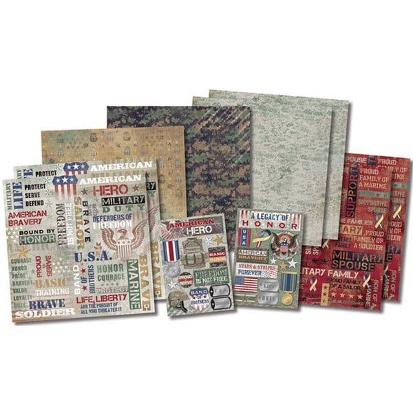 "Karen Foster Military Life Page Kit 12""X12""-Military Life"