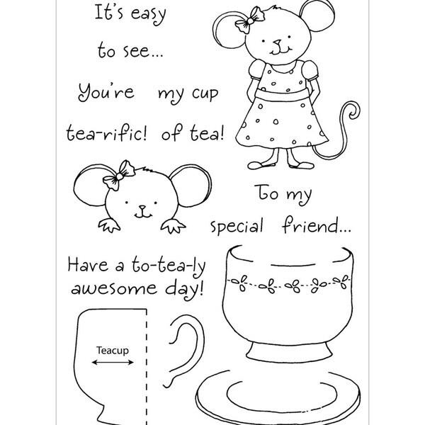 Honeypop Clear Stamp Set-Teacup Mouse