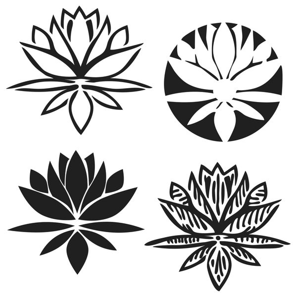 """Crafter's Workshop Templates 12""""X12""""-Lotus Blossom"""