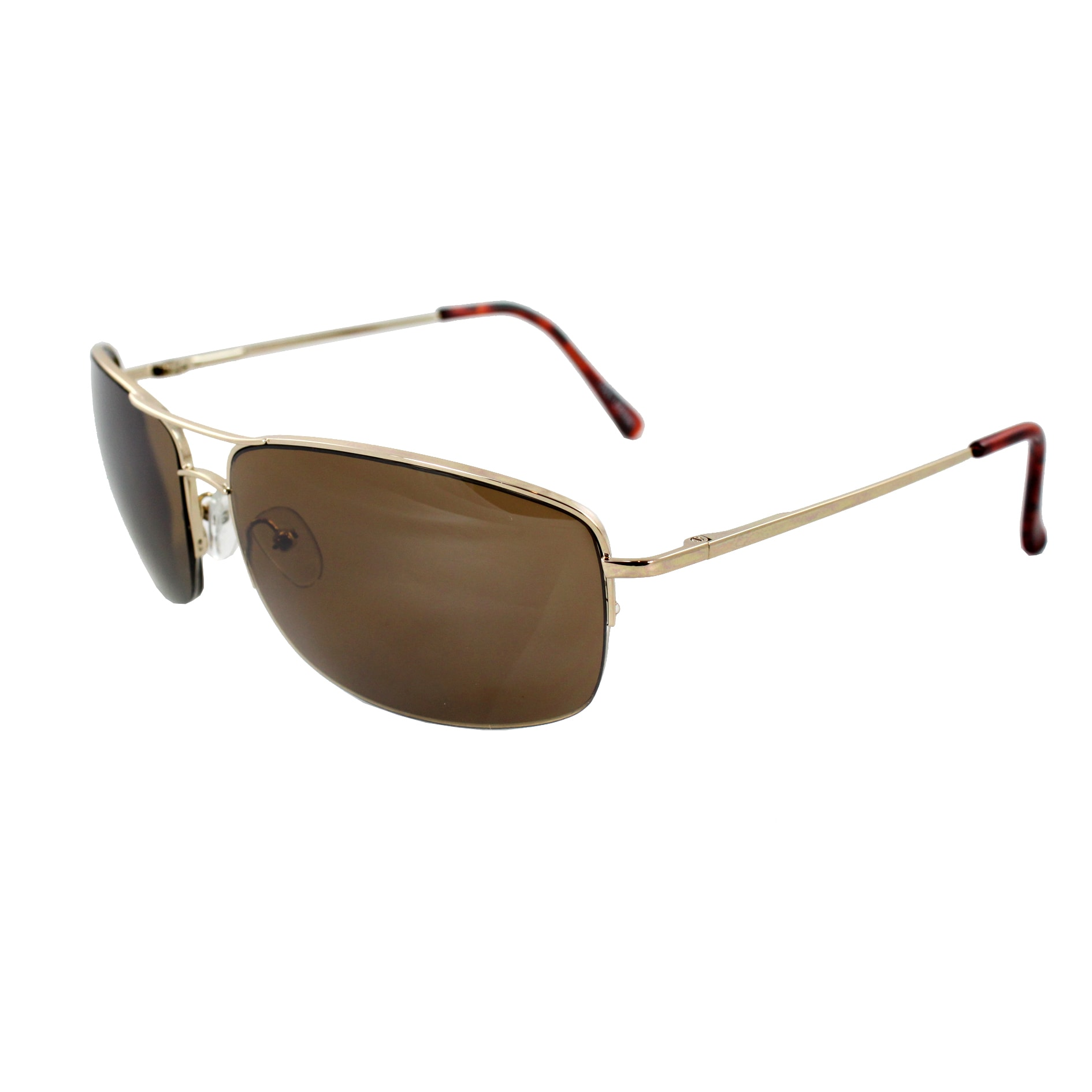 a1053c0d03e58 Shop Semi-Rimless Fashion Sunglasses Gold Frame with Brown Lenses for Women  and Men - Free Shipping On Orders Over  45 - Overstock - 6724975
