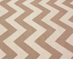 nuLOOM Handmade Flatweave Chevron Natural Wool Rug (7'6 x 9'6) - Thumbnail 2