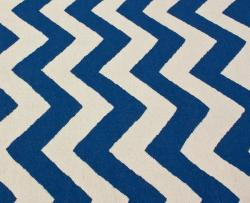 nuLOOM Handmade Flatweave Chevron Blue Wool Rug (7'6 x 9'6) - Thumbnail 2