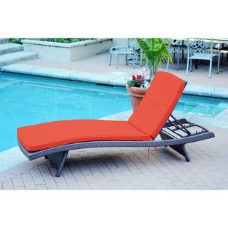 Wicker Adjustable Chaise Lounger With Cushion - Set of 2