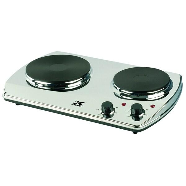 Kalorik Portable Double Chrome Cooking Plate (Refurbished)
