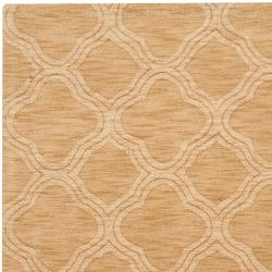 Hand-crafted Gold Lattice Mantra Wool Rug (3'3 x 5'3)