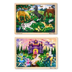 Melissa & Doug Jigsaw Bundle 48-piece Girl Puzzles (Set of 2)