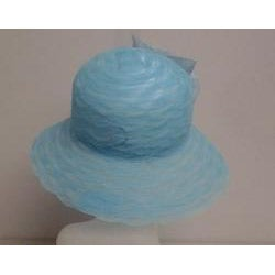 Swan Women's Turquoise Braided Crinoline Floppy Hat