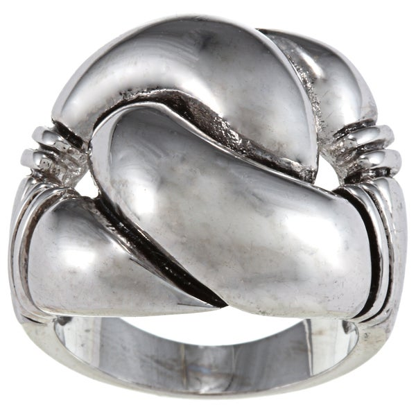 City by City City Style Antique Silver Metal Knot Ring