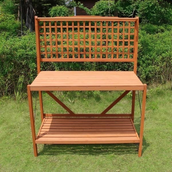Shop Merry Products Folding Potting Bench - Free Shipping ...