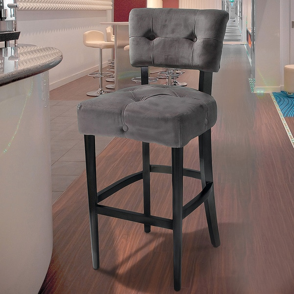 Mariana Grey Velvet Barstool By Christopher Knight Home