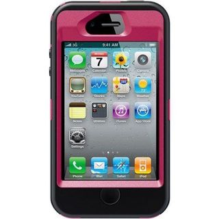 OtterBox 77-20409 Defender Carrying Case (Holster) for iPhone 4/4s - Peony, Black