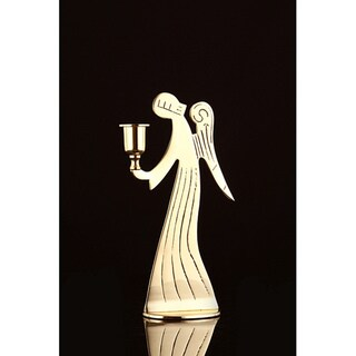 Angel Brass Candle Holder