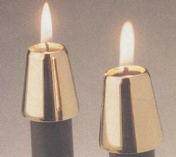 Brass Candle Follower (Set of 2)
