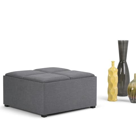 WYNDENHALL Franklin 35 inch Wide Contemporary Square Table Ottoman