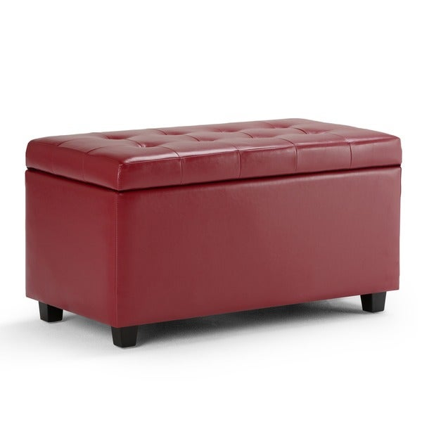WYNDENHALL Essex Faux Leather Storage Ottoman Bench - Free Shipping Today -  Overstock.com - 14275124 - WYNDENHALL Essex Faux Leather Storage Ottoman Bench - Free