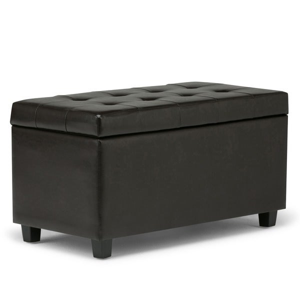 Wyndenhall Es Faux Leather Storage Ottoman Bench