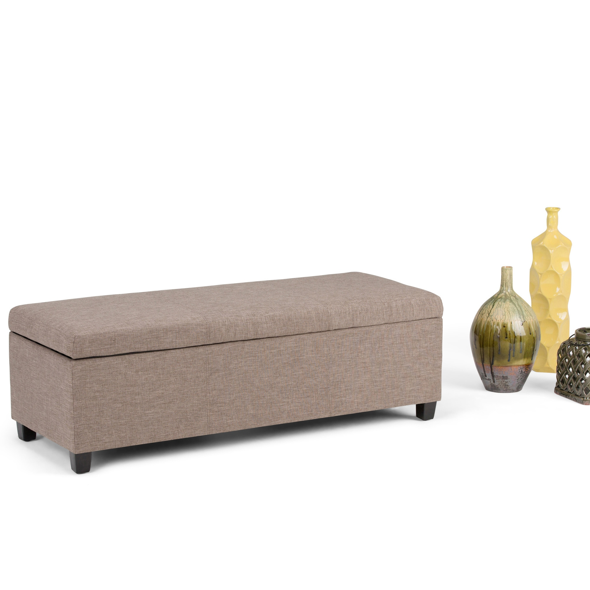 WYNDENHALL Franklin Large Rectangular Storage Ottoman Bench (More options available)