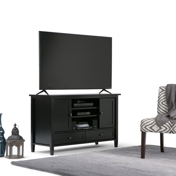 WyndenHall Norfolk TV Media Stand for TVs up to 55 Inches