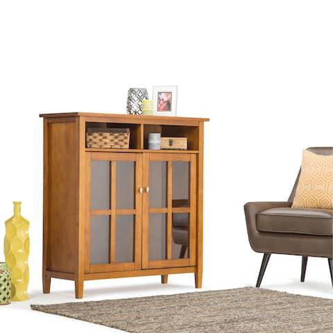 WYNDENHALL Norfolk Solid Wood 39 inch Wide Rustic Medium Storage Media Cabinet - 39 Inch in width