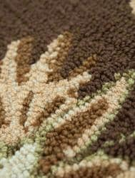 Hand-hooked Freya Chocolate Brown Rug (7' x 9') - Thumbnail 1