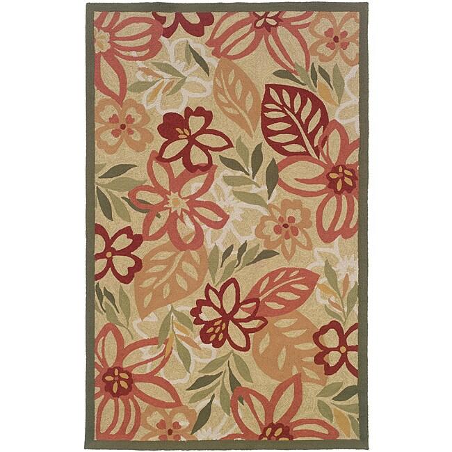 Orleans Beige/ Ivory Floral Rug (7'9 x 9'9)