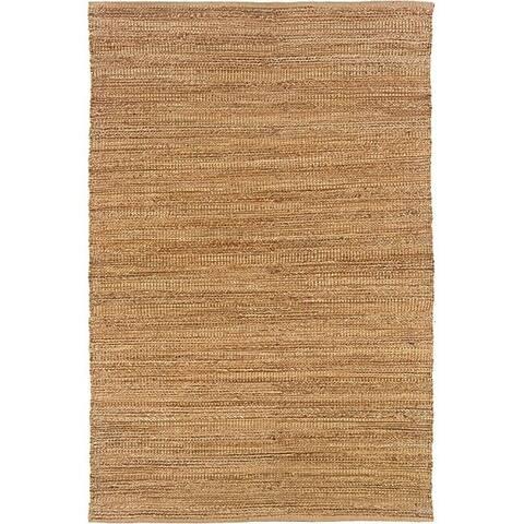 LR Home Hand Loomed Natural Fiber Sonora Sahara Jute/ Chenille Rug - 8' x 10'