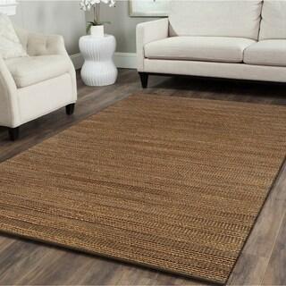 LNR Home Natural Fiber Sahara Jute Solid Rug (7'9 x 9'9)