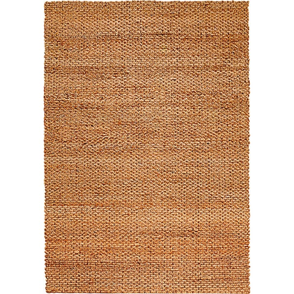 LNR Home Natural Fiber Rectangle Jute Solid Area Rug (5'3 x 7'5)