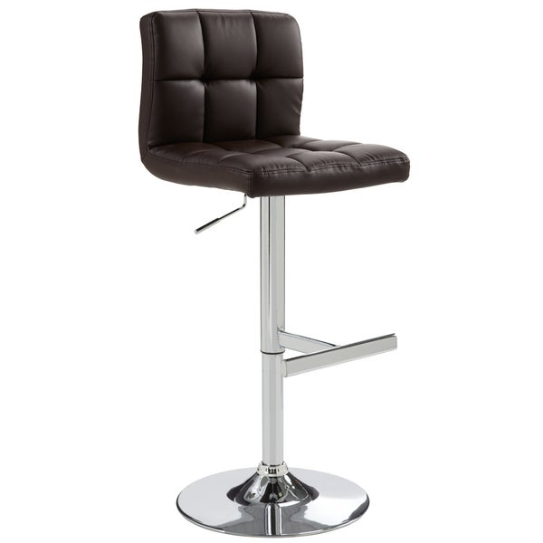 Sunpan Imports Rockwell Brown Adjustable Barstool Free