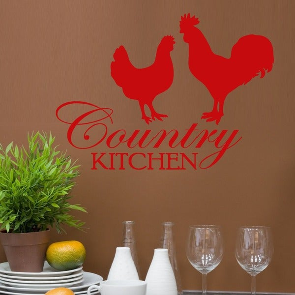 Vinyl 'Country Kitchen' Wall Quote Graphic Decal
