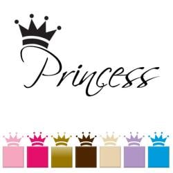 Vinyl 'Princess' Wall Quote Graphic Decal