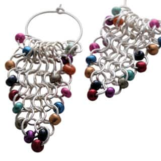Multi-Color Chain Maille Earrings