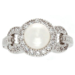 Nexte Jewelry Fresh Water Pearl Center Stone with White Accent Stones Ring (2 options available)