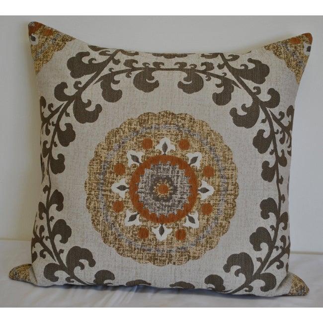 Sherry Kline 'Quay' Amber Brown 26 inch Pillow