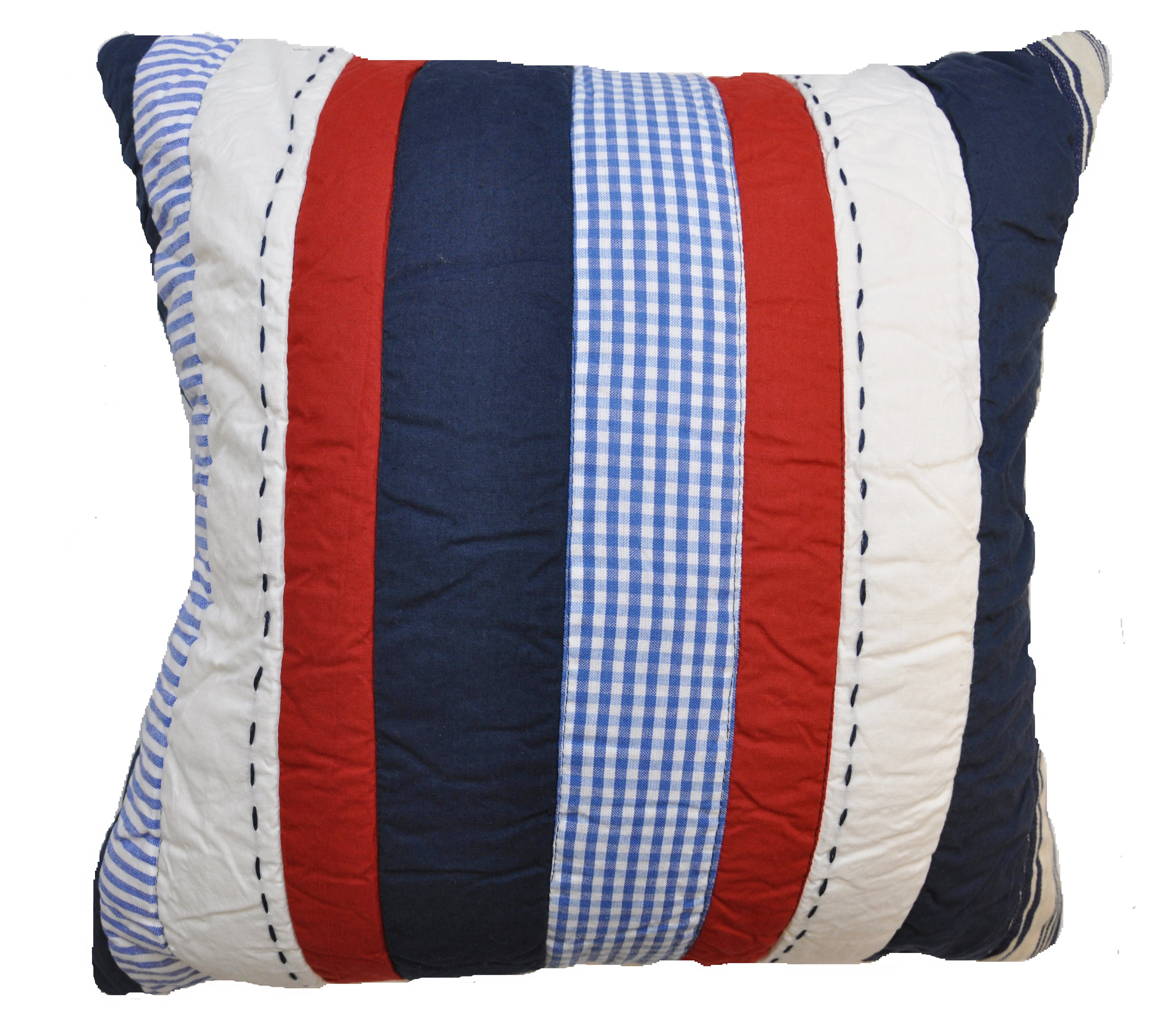 Cameron Blue/ Red Striped Decrotive Pillow