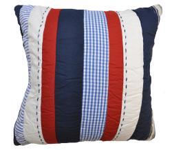 Cameron Blue/ Red Striped Decrotive Pillow