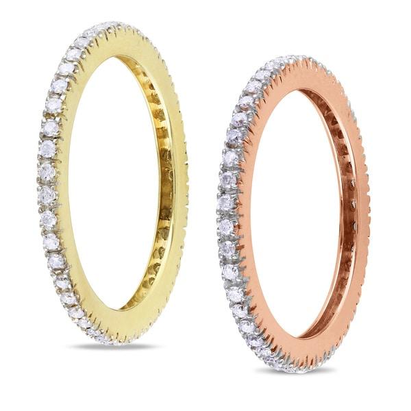Miadora 14k Rose or Yellow Gold Diamond Eternity Ring (G-H, SI1-SI2)