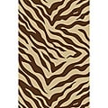 Zebra Brown Non-skid Rug (5' x 7')