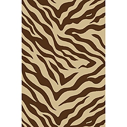 Zebra Brown Non-skid Rug (2' x 6'10)