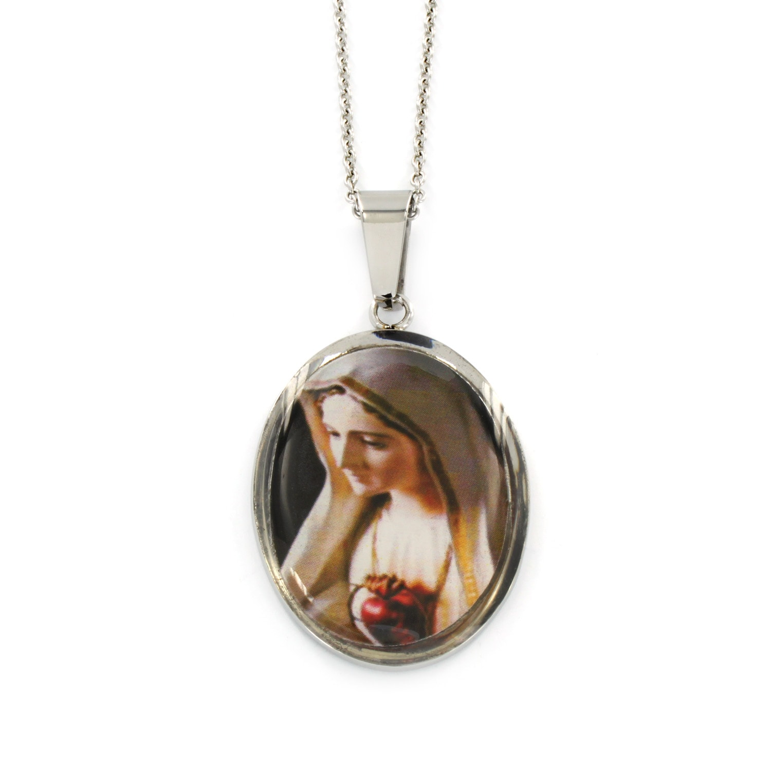 medallion hop mother design virgin steel product necklaces christian pendant new religious mary gold wholesale hip necklace