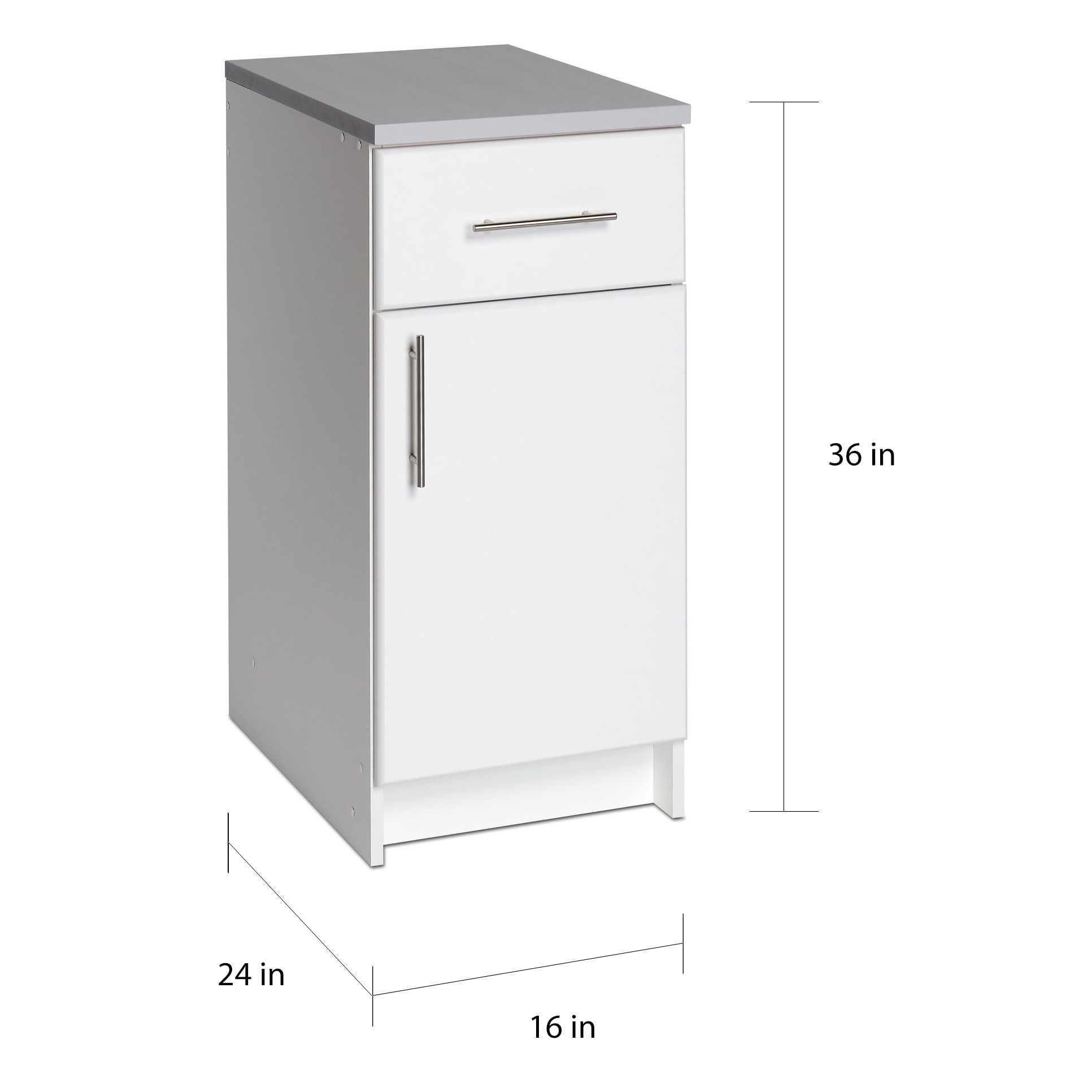 Prepac Winslow Elite 16 Inch Base Cabinet Multiple Finishes 16 Inch 16 Inch On Sale Overstock 6728157 Black