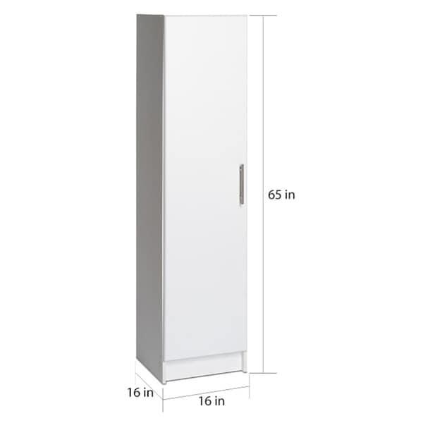 Prepac Elite White 16 Inch Narrow Cabinet