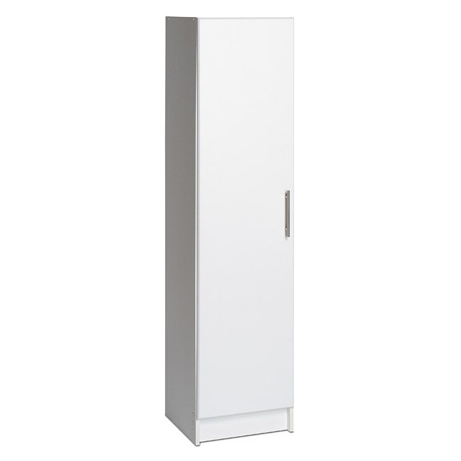 Prepac Winslow White 16-inch Broom Cabinet