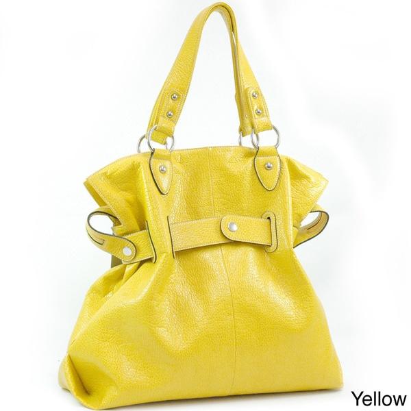 Dasein Belted Soft Fashion Tote Bag