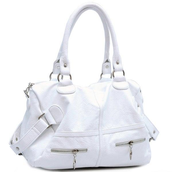 Dasein Faux Leather Belted Shoulder Bag