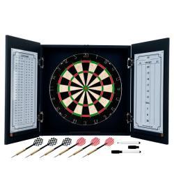 Trademark Poker TG Black Laminate Self Healing Dart Cabinet Set